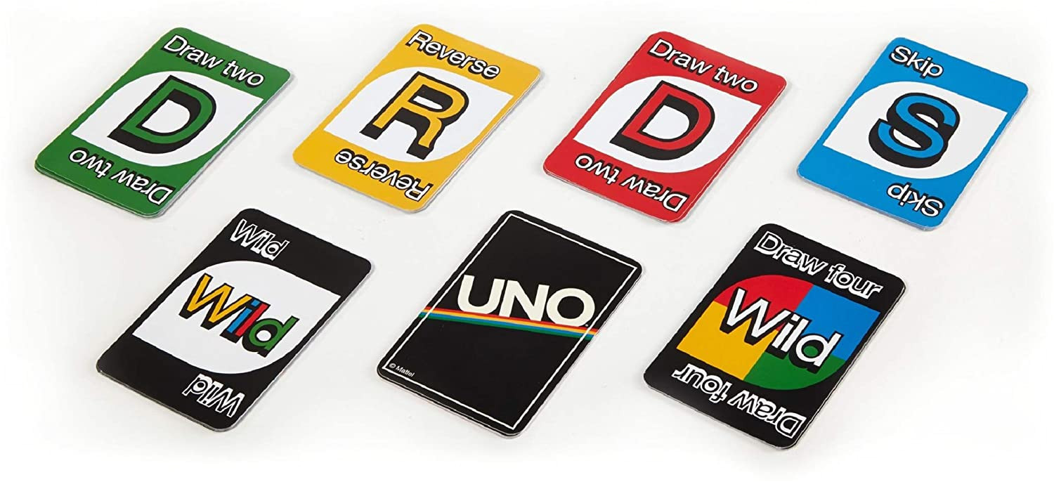 What is the Blank Card In Uno Mean Uno Card Game Retro Edition by Mattel