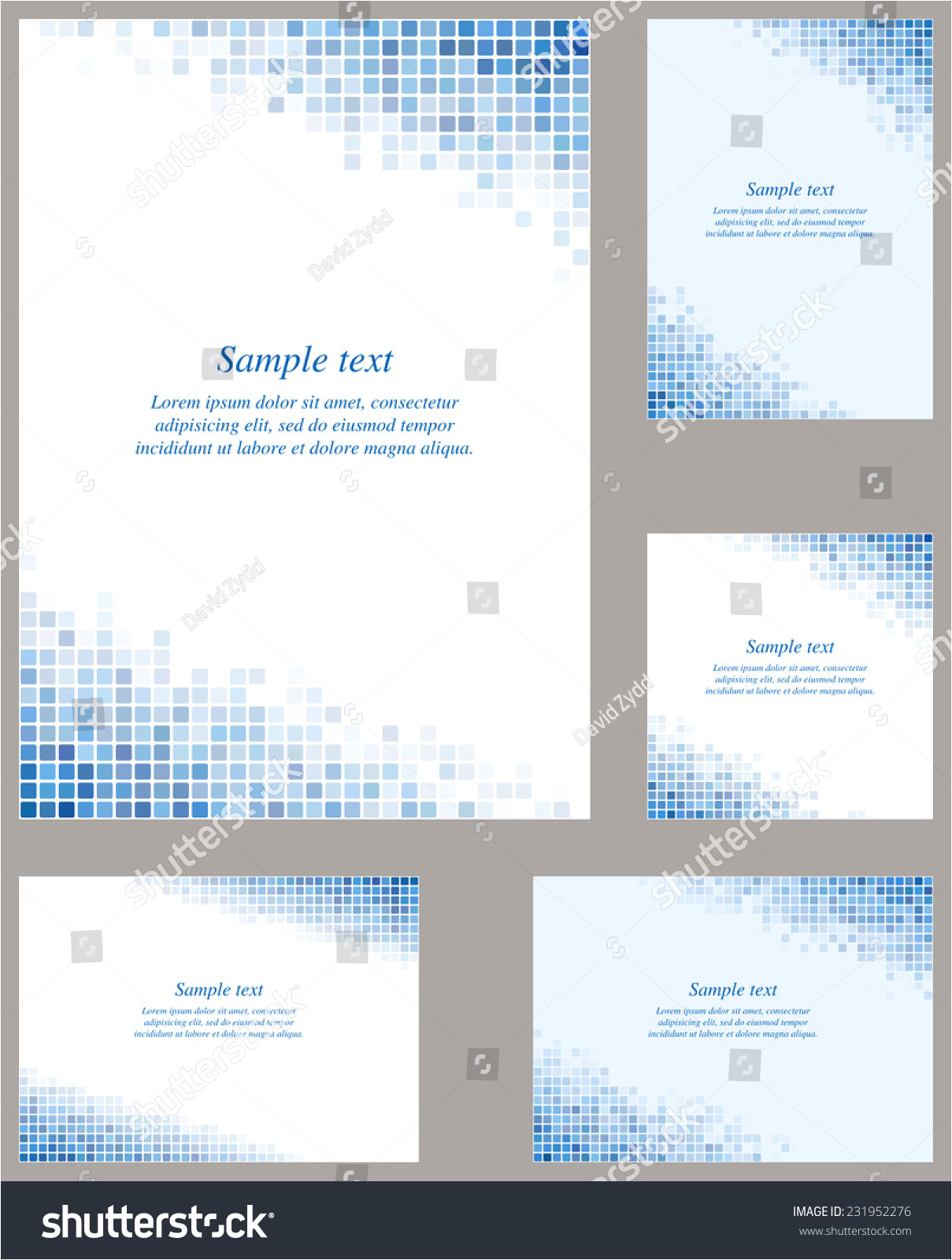 stock vector blue page corner design template invitation greeting presentation card letter paper brochure 231952276 jpg