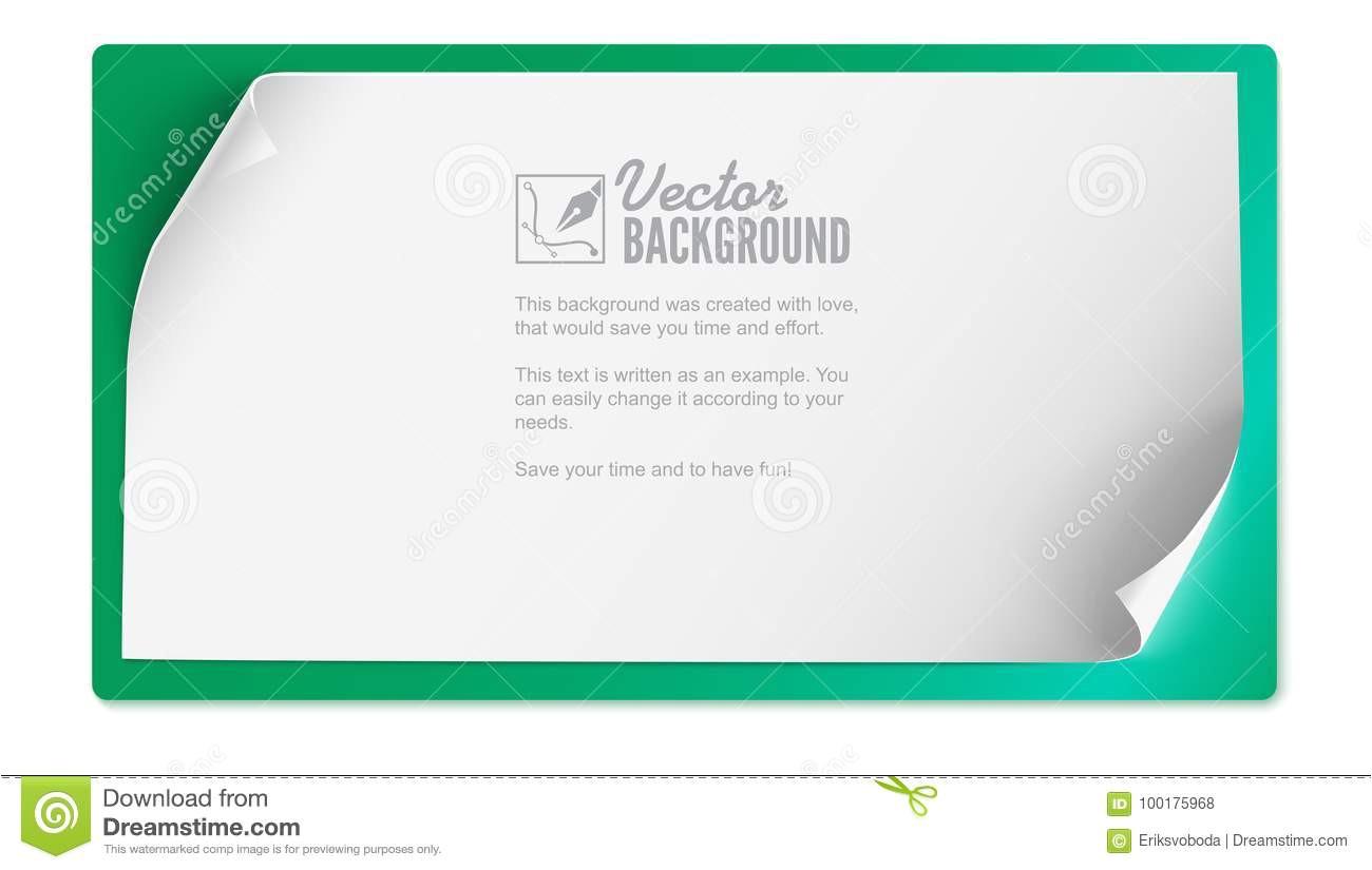vector die gebogene papierfahne auf farbigem hintergrund lokalisiert wird wei c3 9fes leeres papier horizontale fahne realistischer 100175968 jpg
