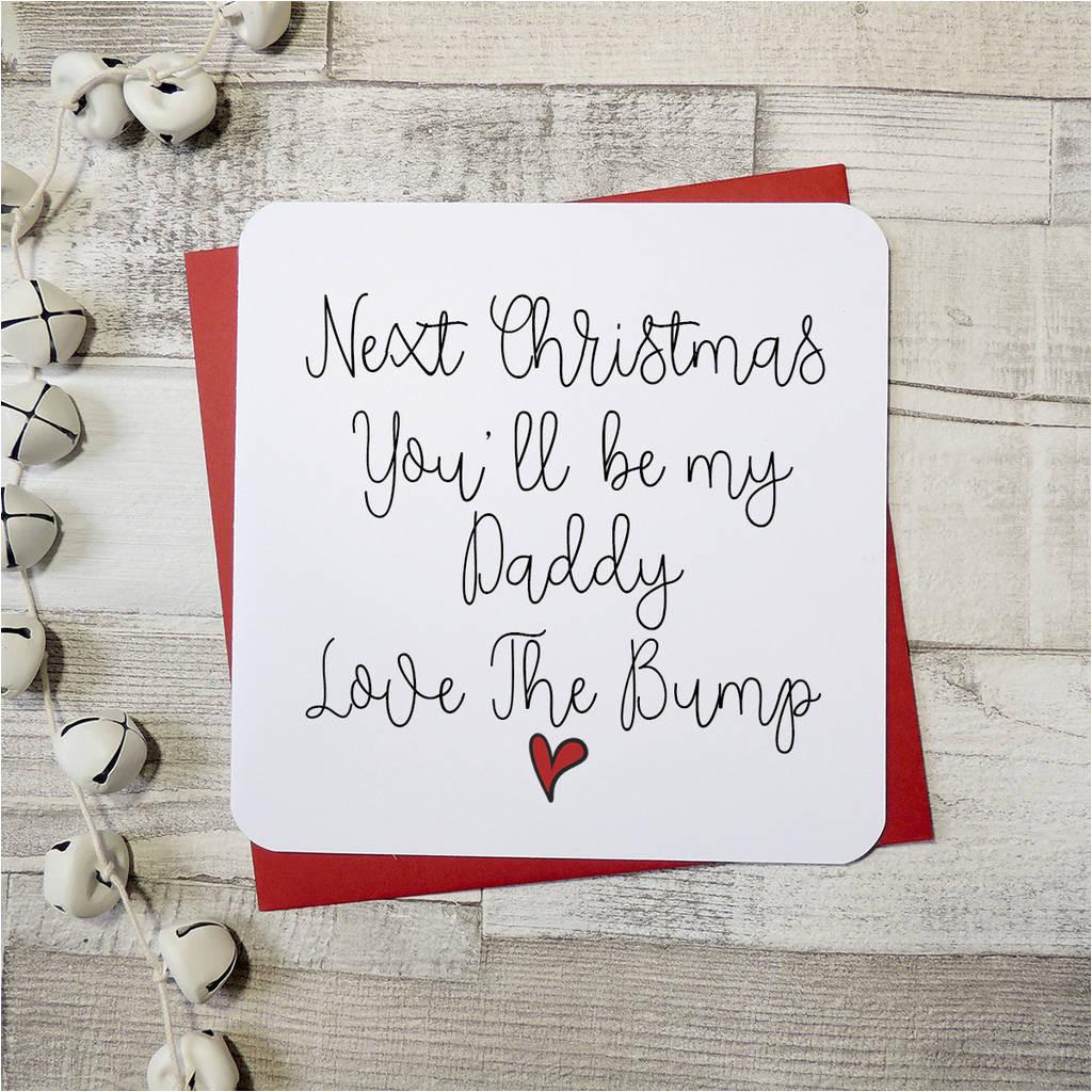 original next christmas you ll be a daddy script greeting card jpg