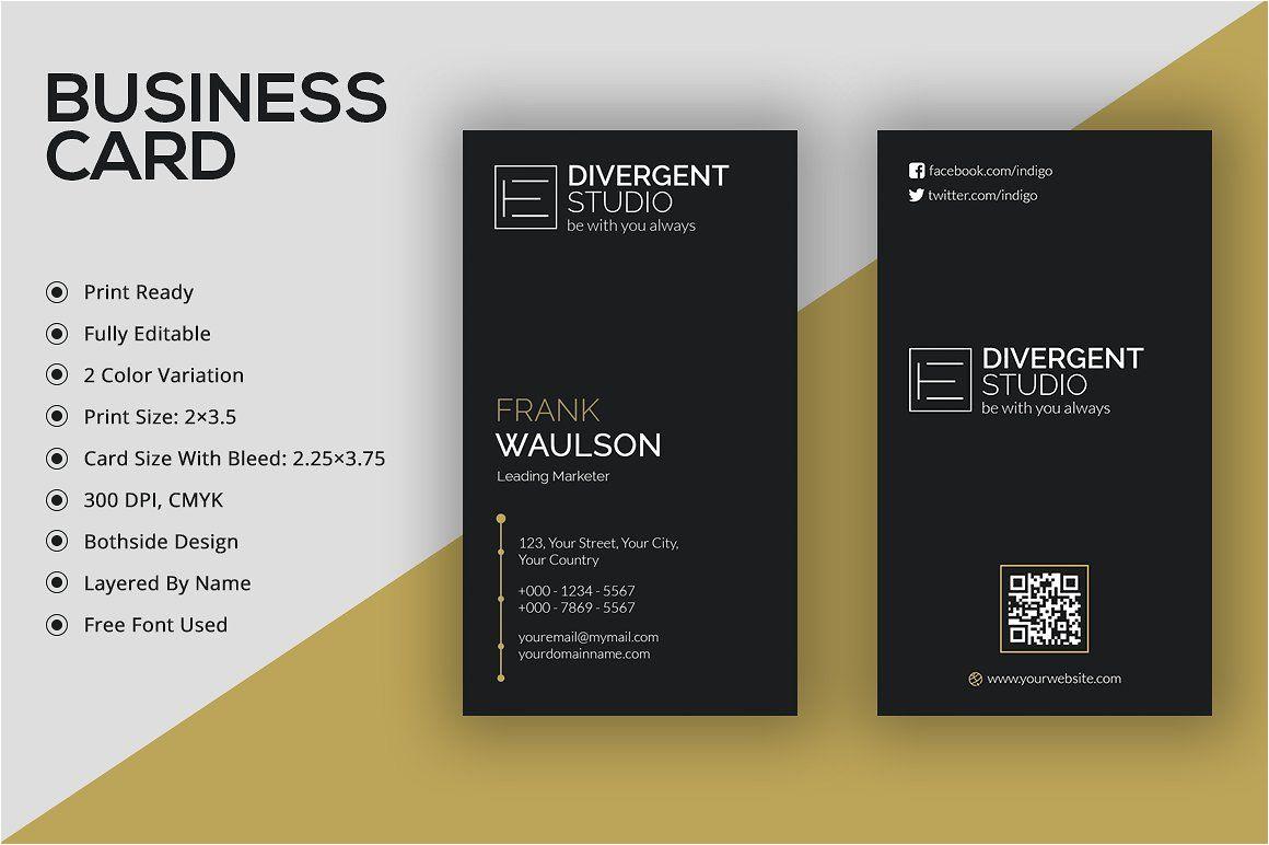 What Size is A Business Card Vertical Business Card A A µa A A A A A