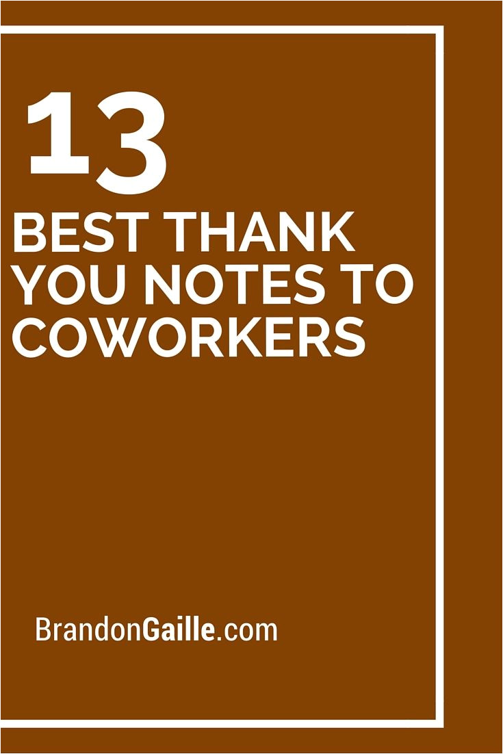 What to Write On Farewell Card for Coworker 13 Best Thank You Notes to Coworkers with Images Best