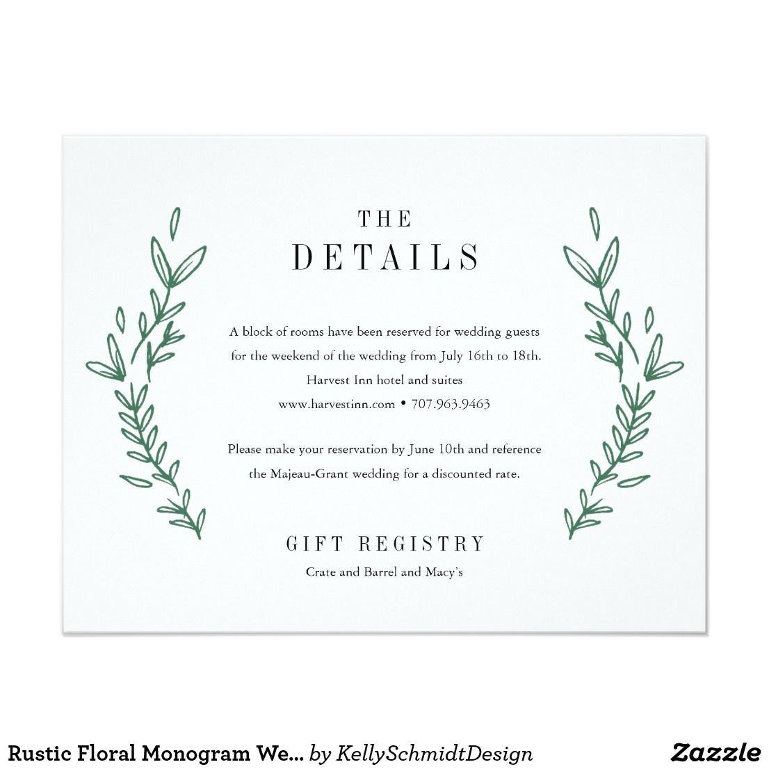 Wording for Details Card Wedding Pin On Wedding Details Card