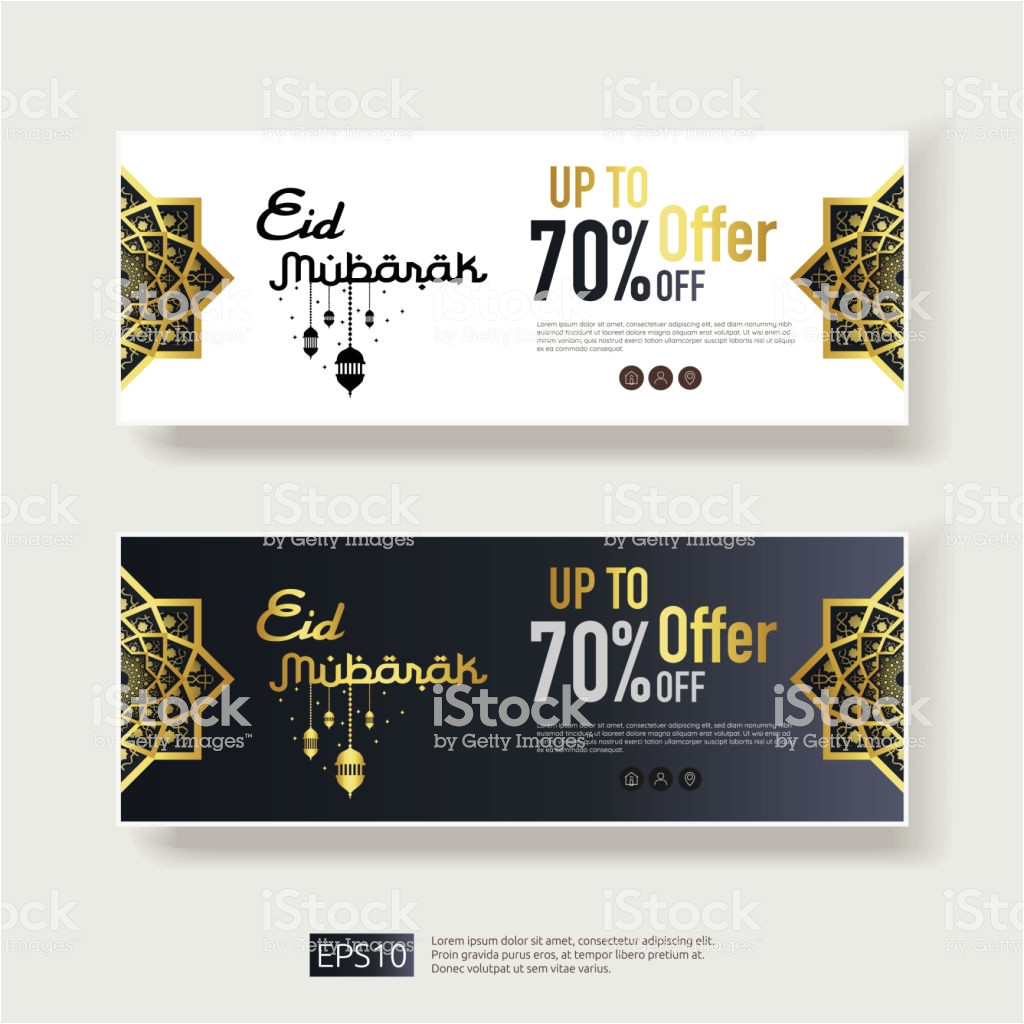 eid al adha or fitr mubarak sale offer banner design with abstract vector id1012404240