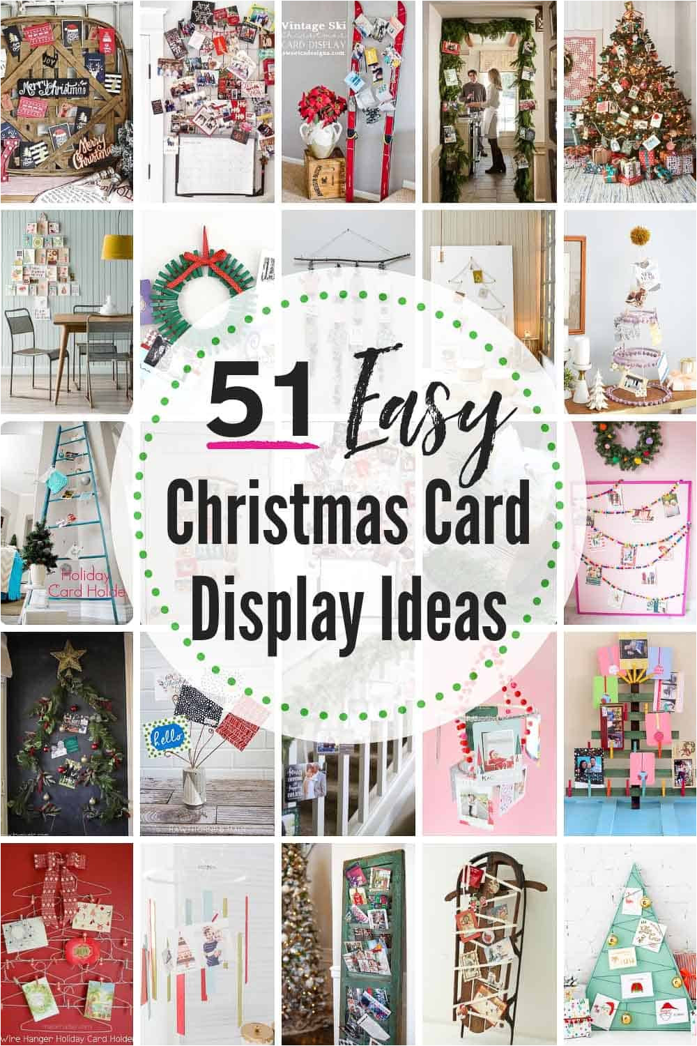 50 easy christmas card display ideas 2 jpg
