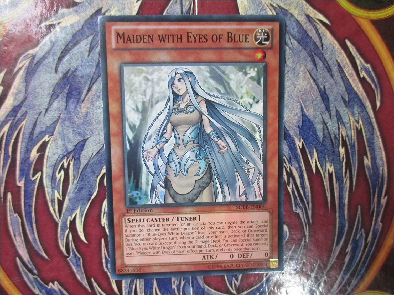 Yugioh Maiden In Love Card Yu Gi Oh Maiden with Eyes Of Blue Sdbe En006
