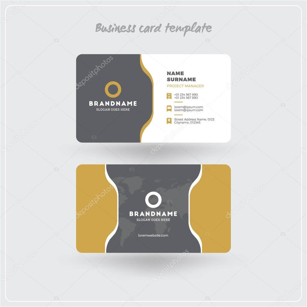 depositphotos 129509682 stock illustration golden and gray business card jpg