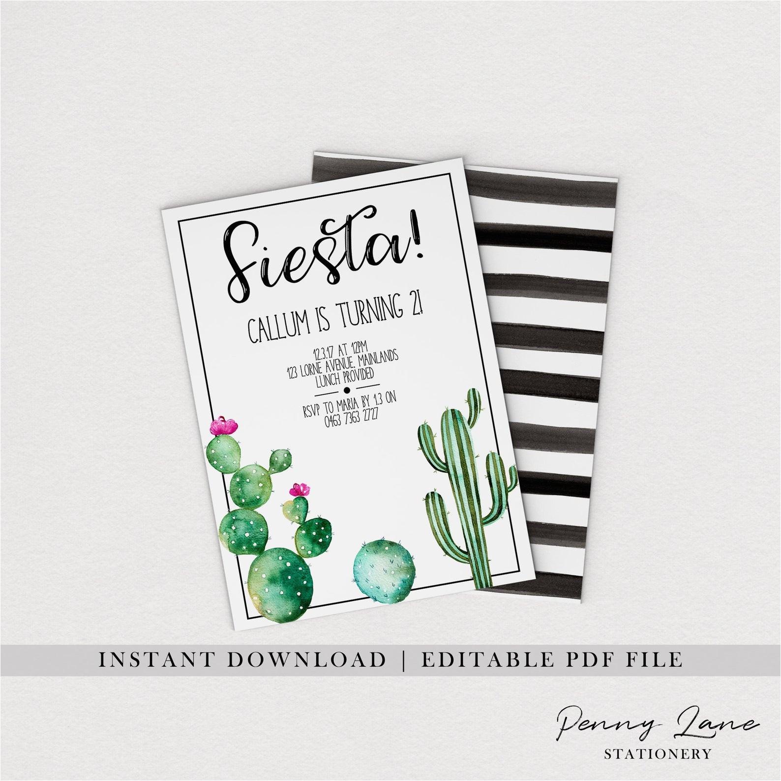 cactus thank you cards fiesta 4 x 6 card