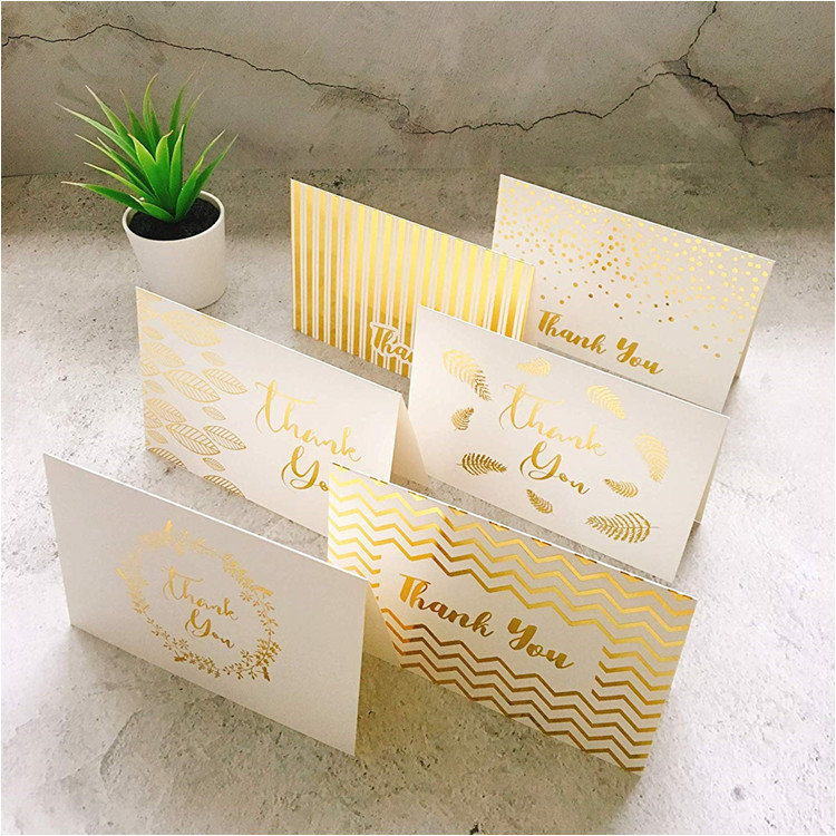 Gold Foil Thank You Card Blank