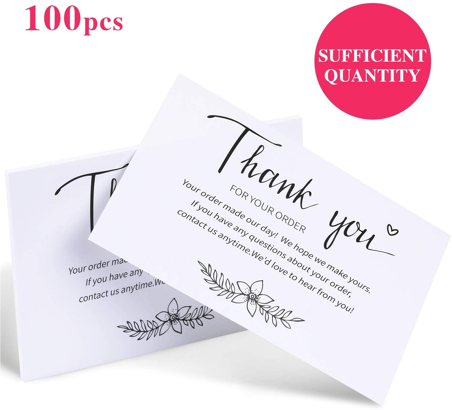 You Postcards 4 x 6 Inch Thank You For Your Order Cards Degradable Business Greeting
