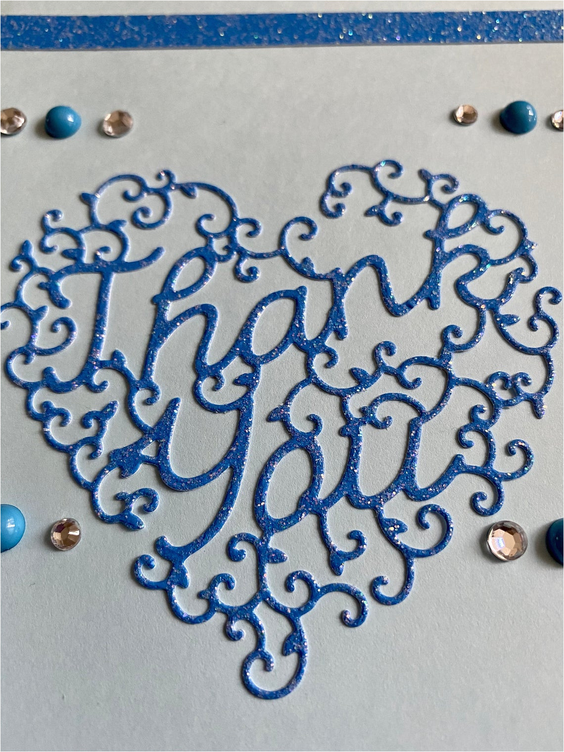 handmade thank you card 4 x 6 inches
