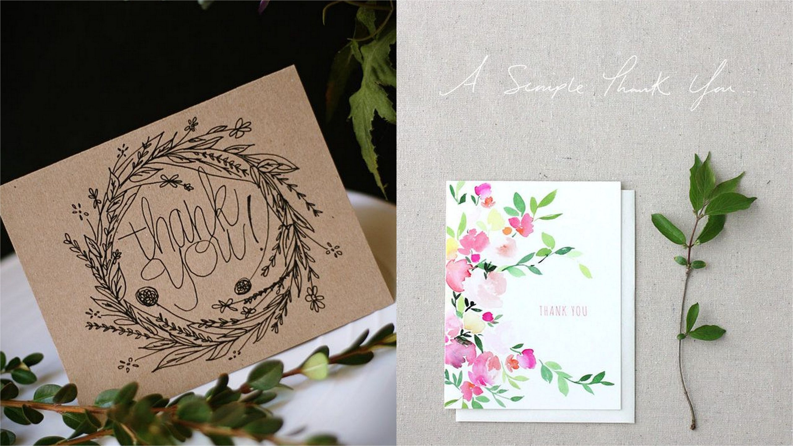5 designs and trends thank you cards 2016