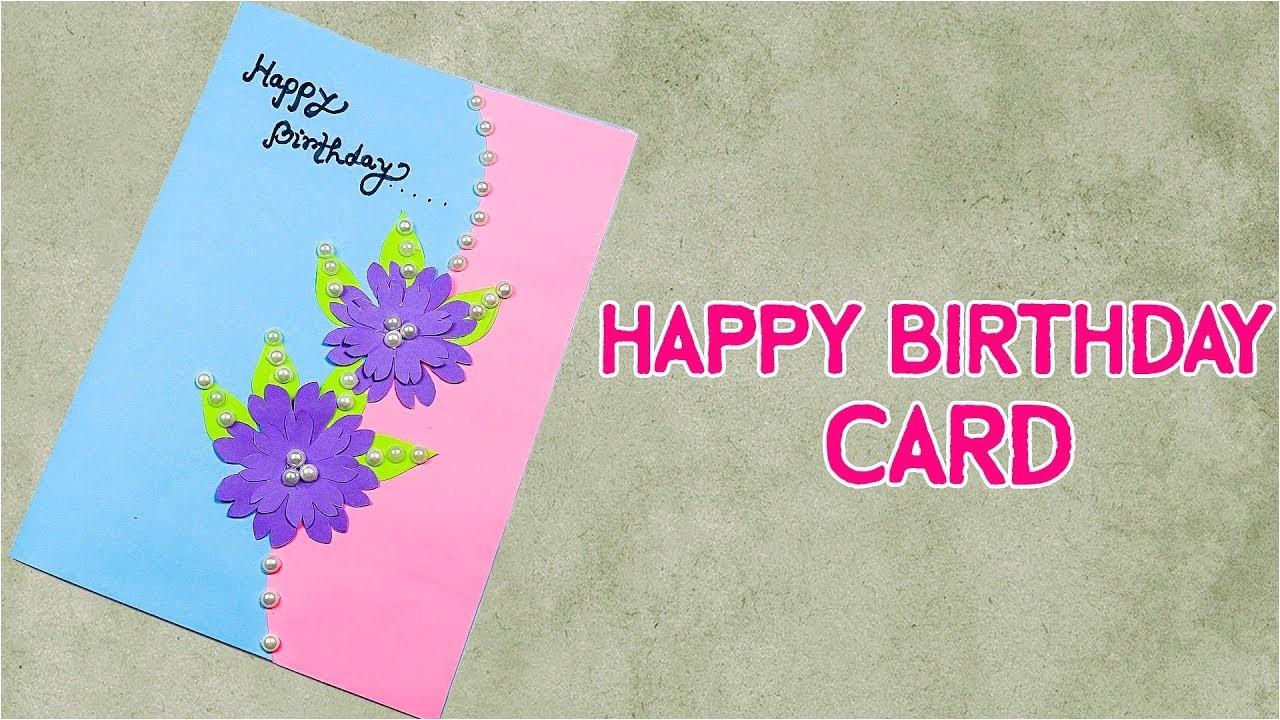 beautiful handmade birthday card idea birthday card for best friend