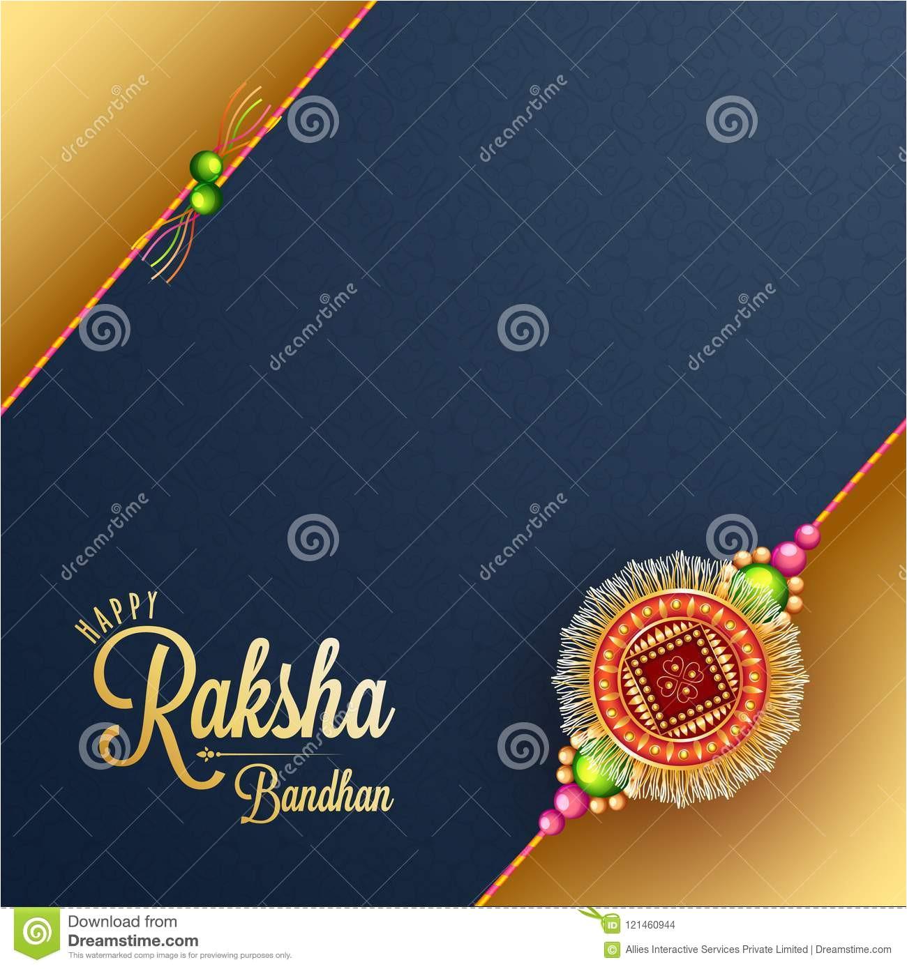 raksha bandhan greeting card design illustration beautif beautiful rakhi seamless pattern background image