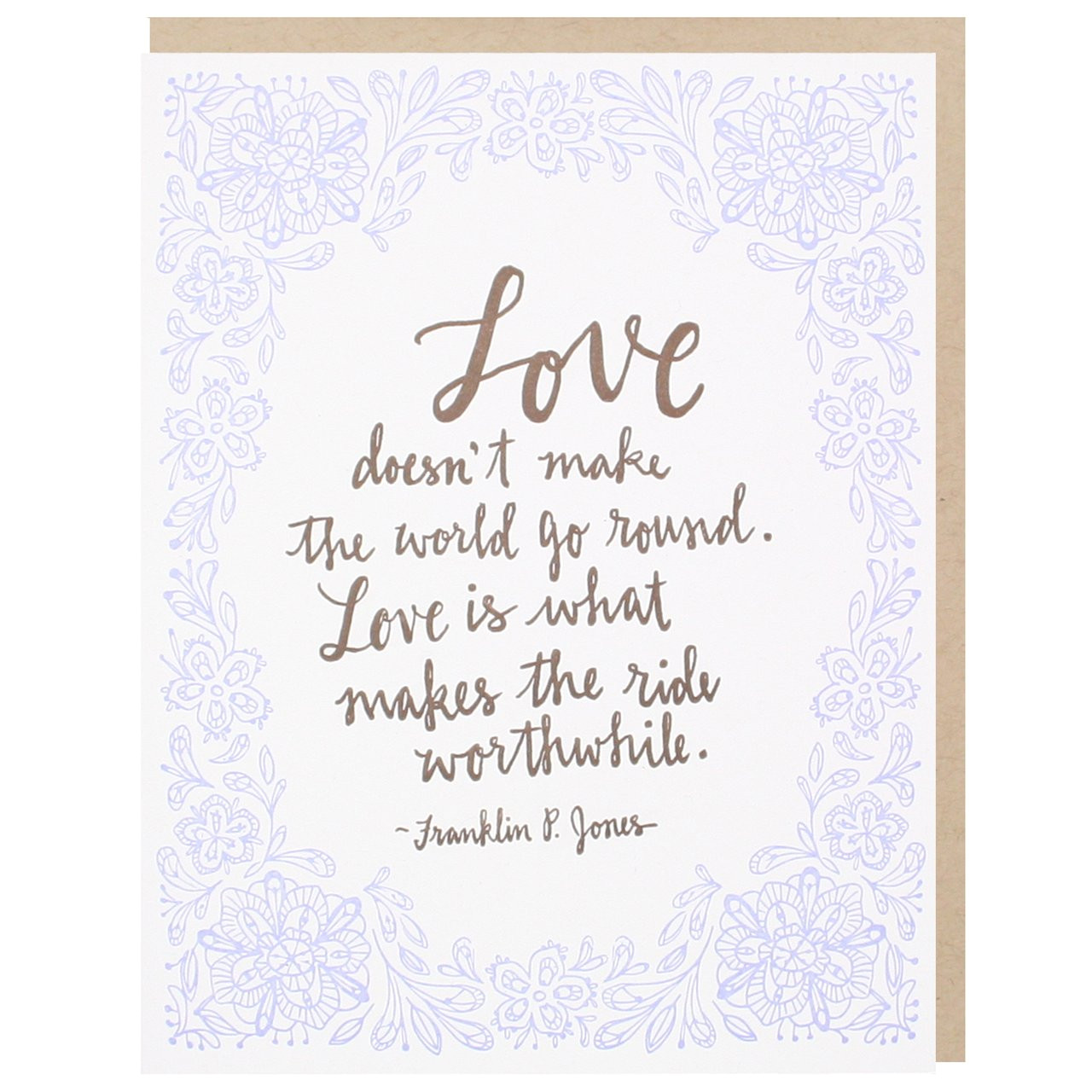 romantic love quote wedding card