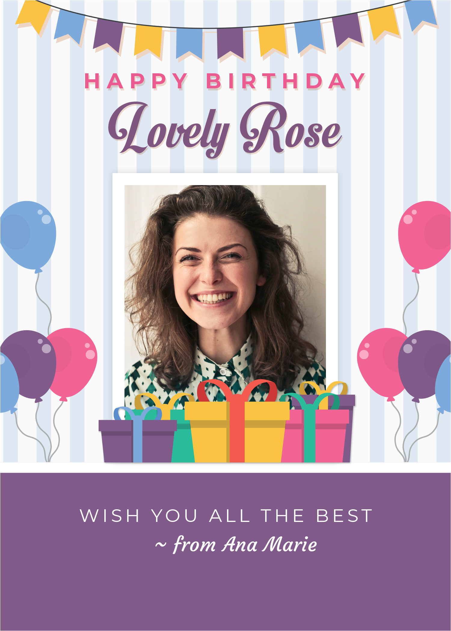 Birthday Card Design with Photo Birthday Greeting Card Design 2