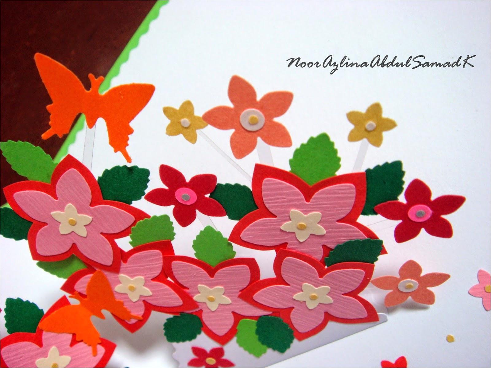 double star loop flower pop up birthday