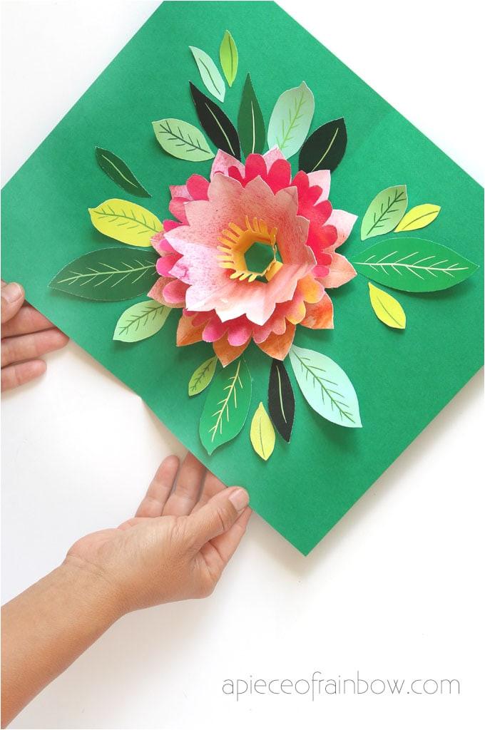 make birthday card pop up flower
