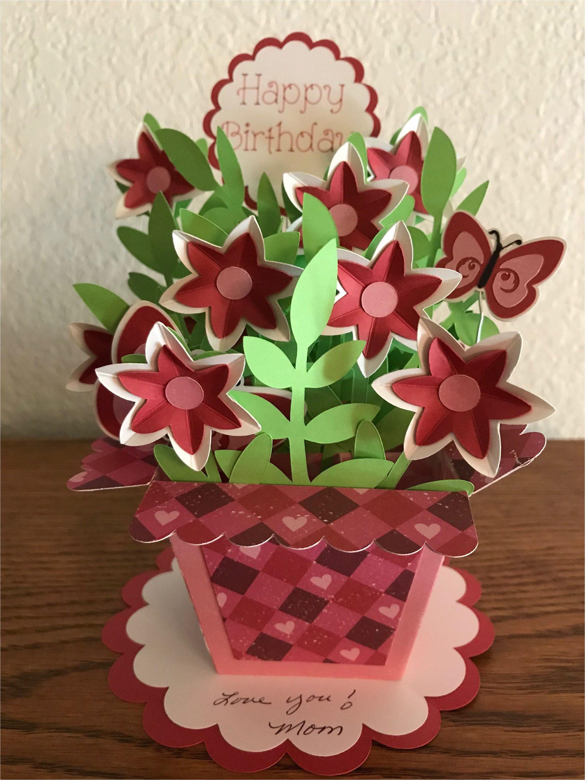 Birthday Card Flower Pop Up Pop Up Flower Birthday Card