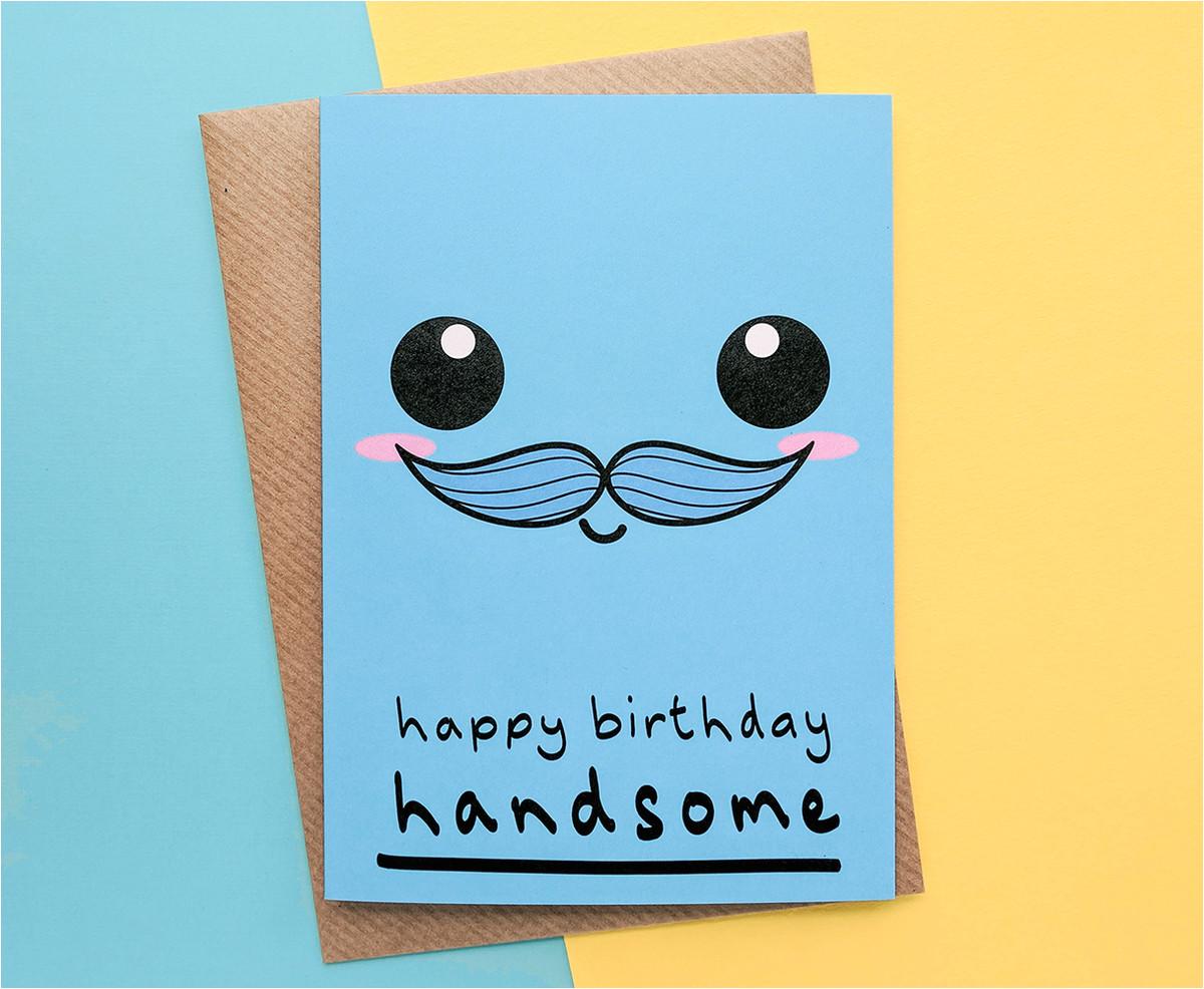 handsome boyfriend birthday card