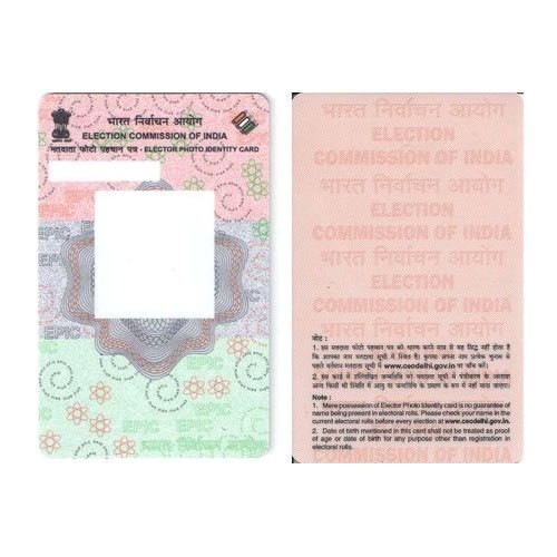 pvc card epic voter id card