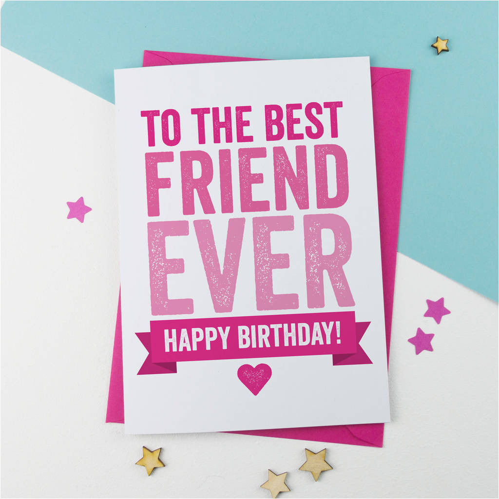 Card Birthday for Best Friend Best Friend Birthday by A is for Alphabet