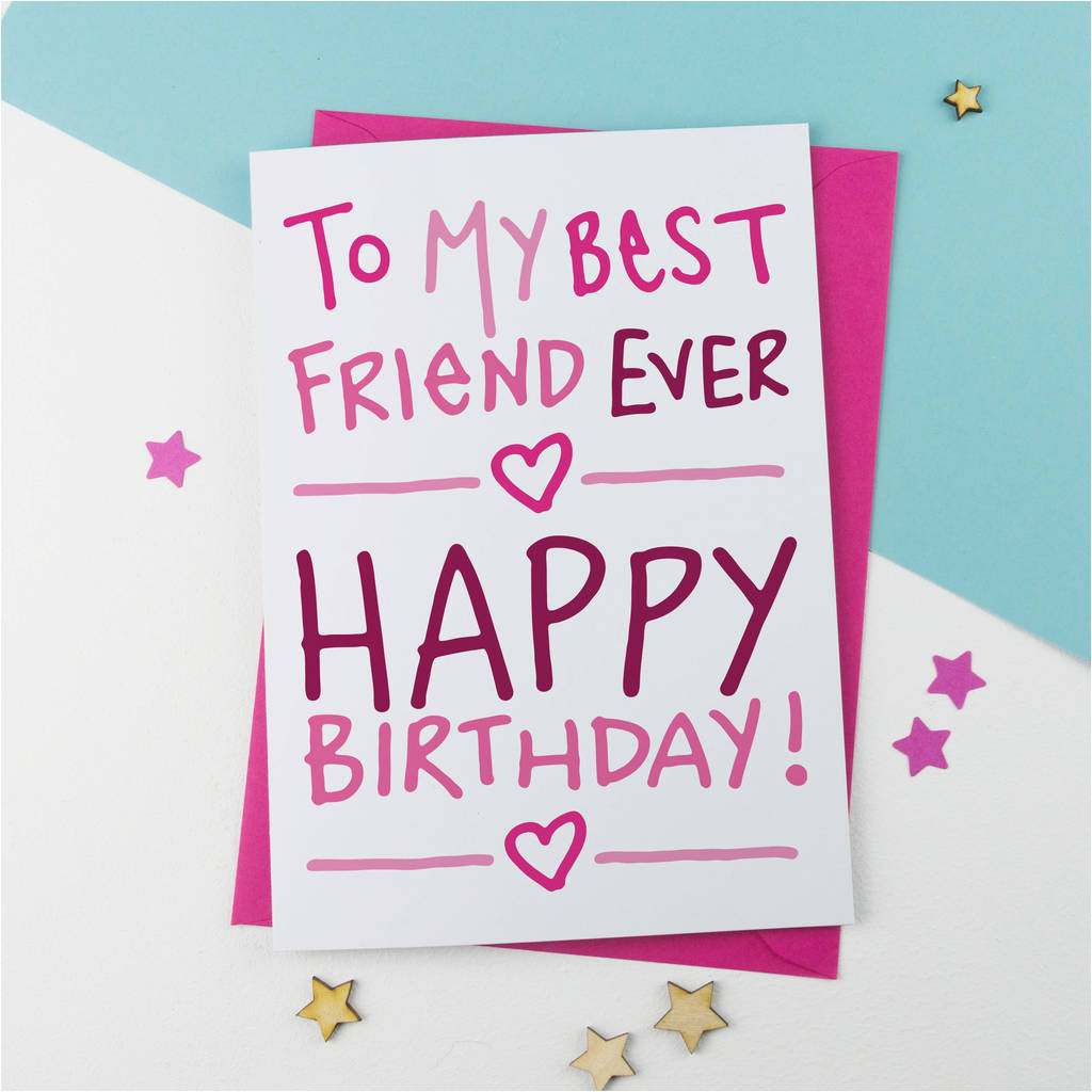 birthday card for best friend ever