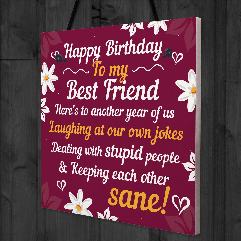 happy birthday card best friend birthday t friendship plaque