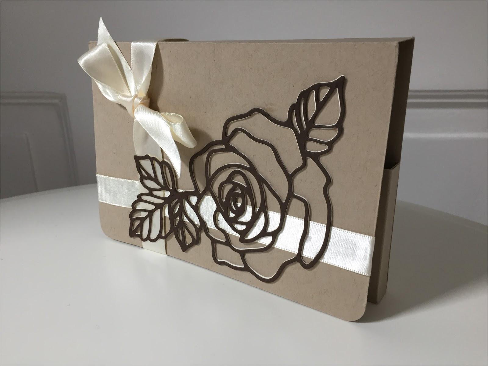 handmade card t set using rose