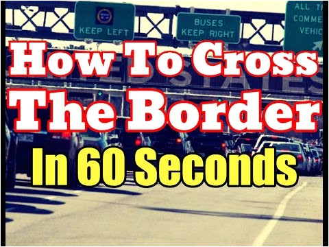 Global Entry Card Canada Border Nexus Card Pass [hd] How to Cross the Border Legally In
