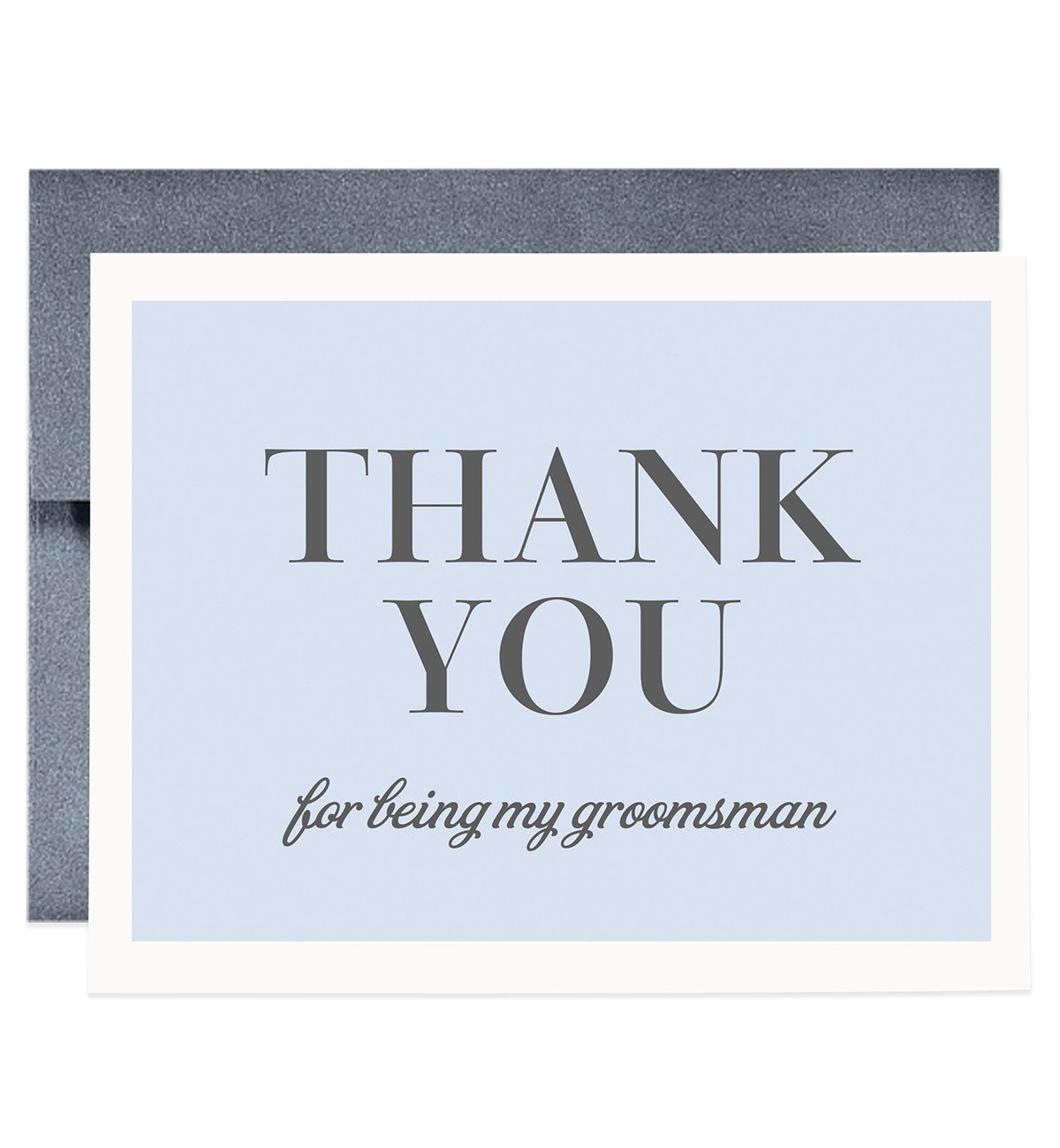 thank you for being my groomsman card gray josh