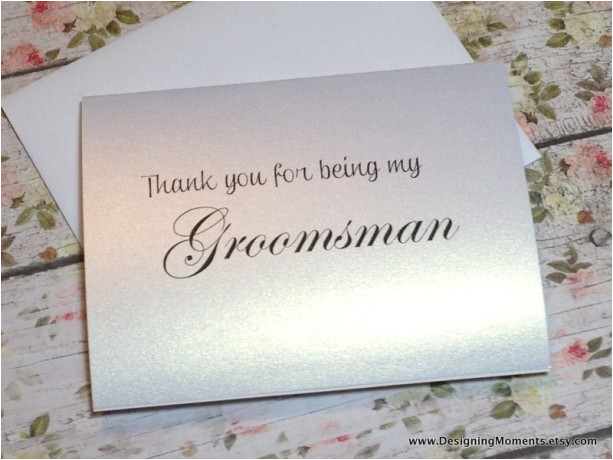 thank you for being my groomsman groomsman thank you card wedding thank you card thank you groomsmen best man card