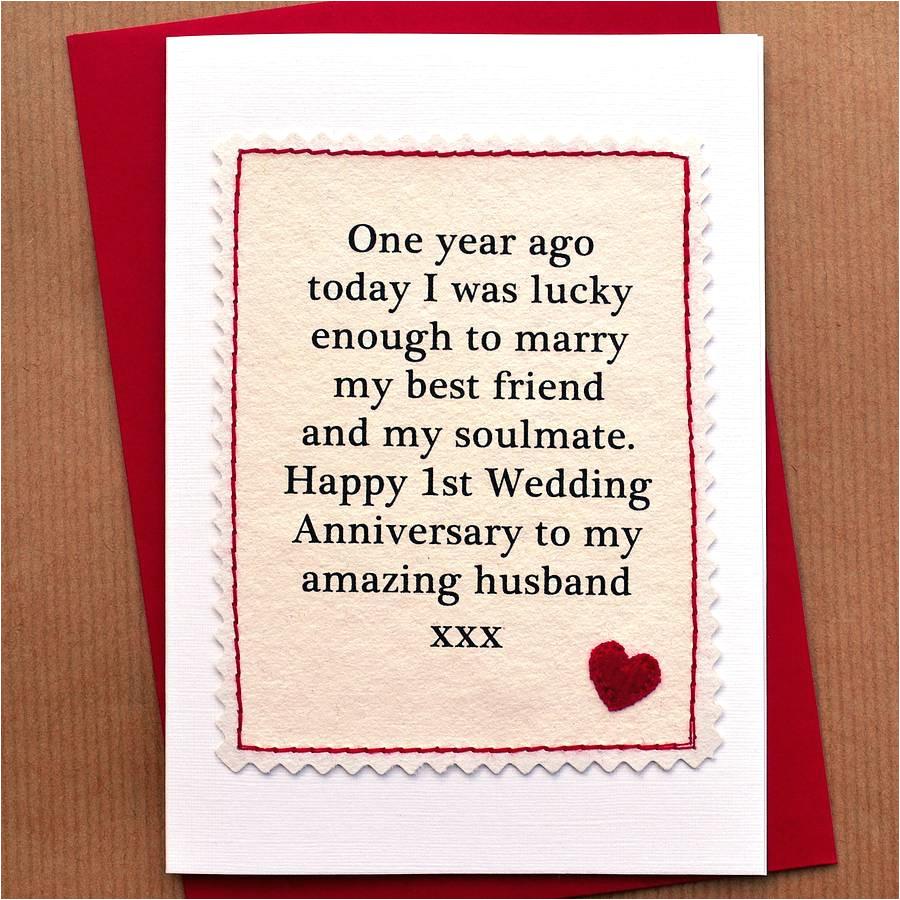 handmade first anniversary card