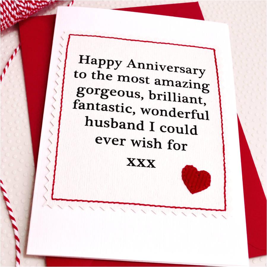 anniversary card for husband or boyfriend