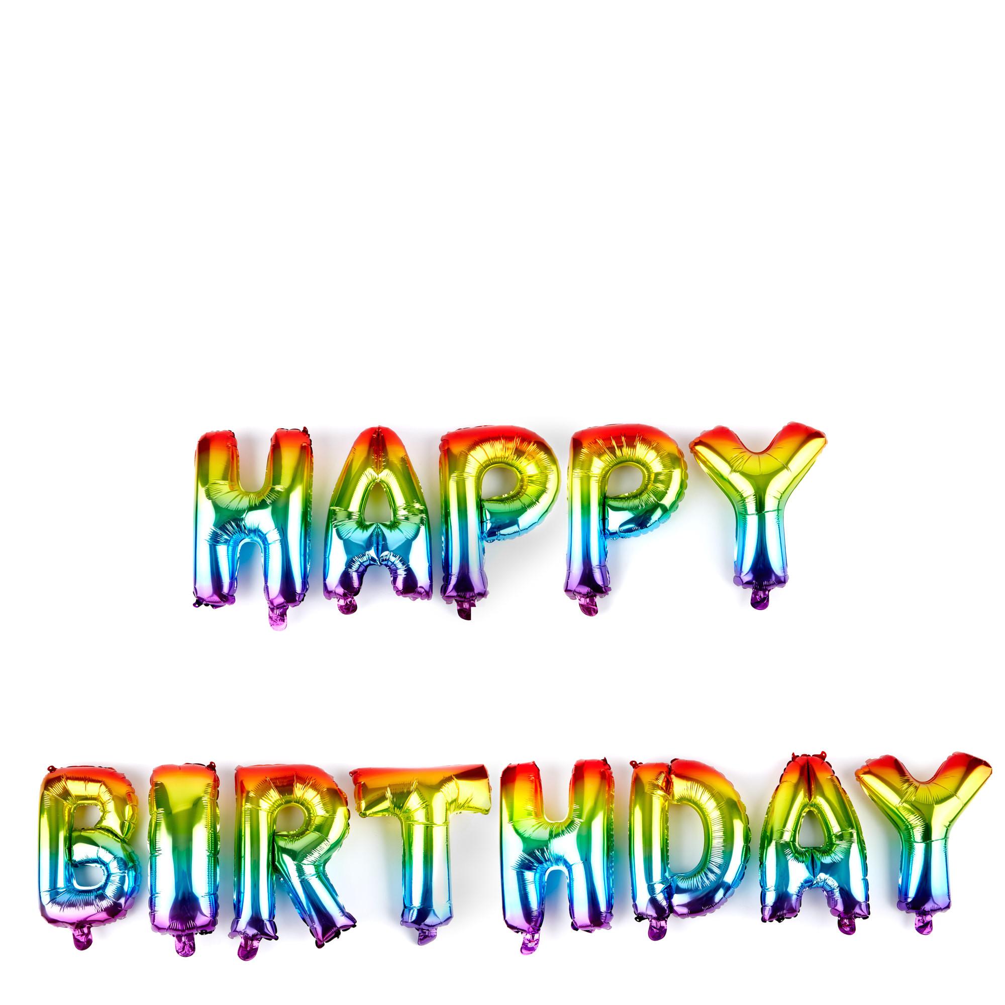 Happy Birthday Banner Card Factory Buy Happy Birthday Rainbow Balloon Banner Kit for Gbp 9 99