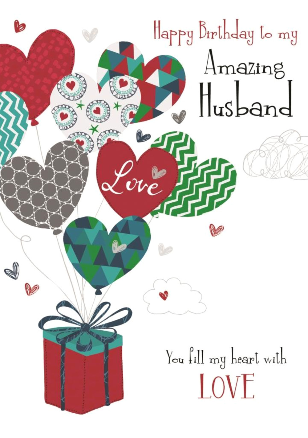 kcsndrs055 amazing husband birthday greeting card second nature daydreams cards