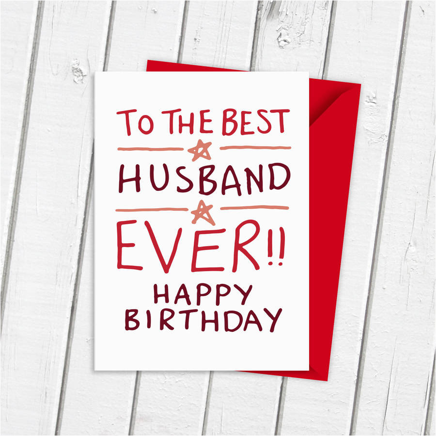 happy birthday card husband