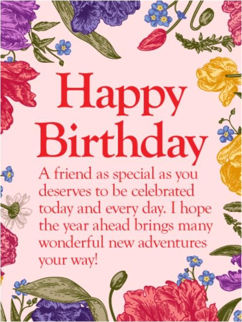 birthday greetings friend