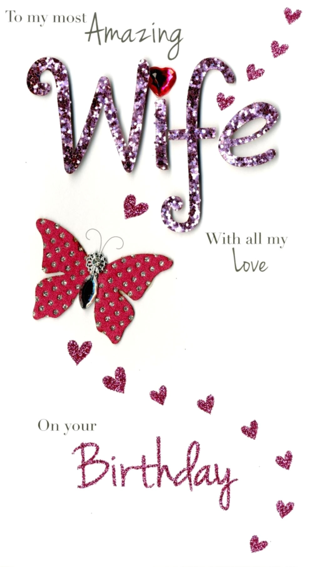 kcsnjgs459 amazing wife happy birthday greeting card hand finished cards
