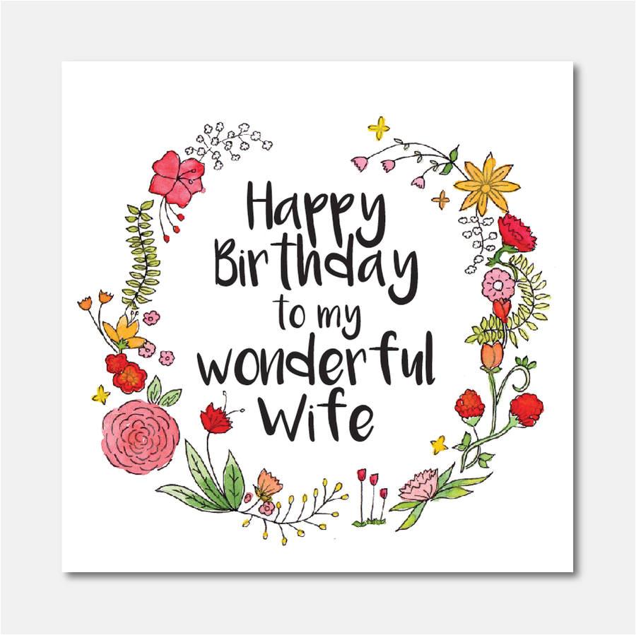 happy birthday to my wonderful wife