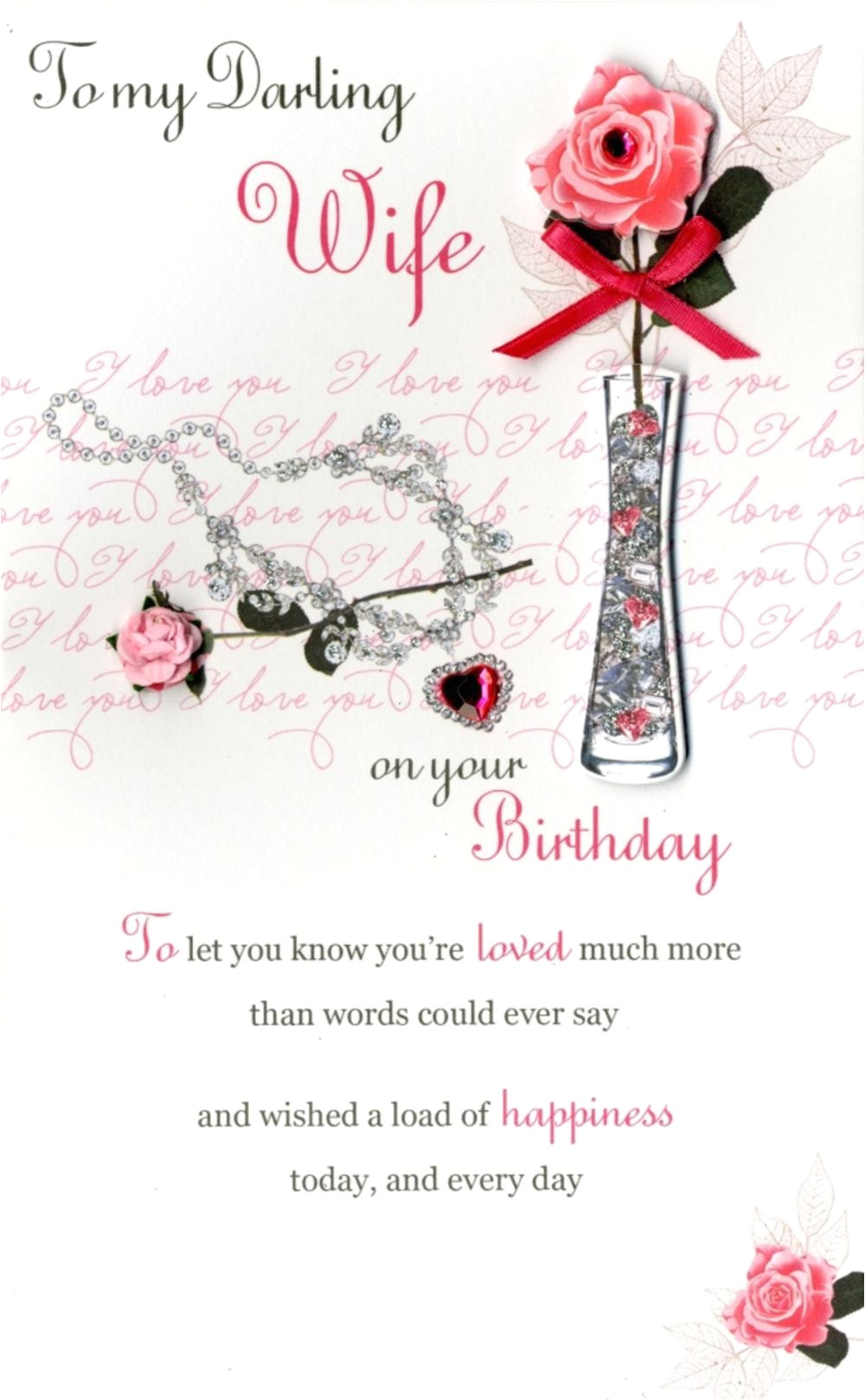kcsnpc176 happy birthday wife embellished greeting card second nature poem corner cards