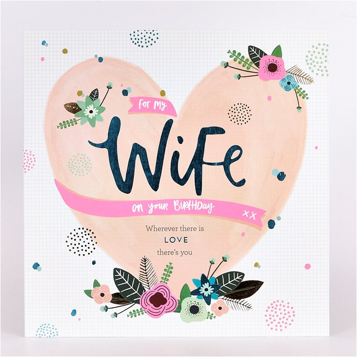 platinum collection birthday card wife heart
