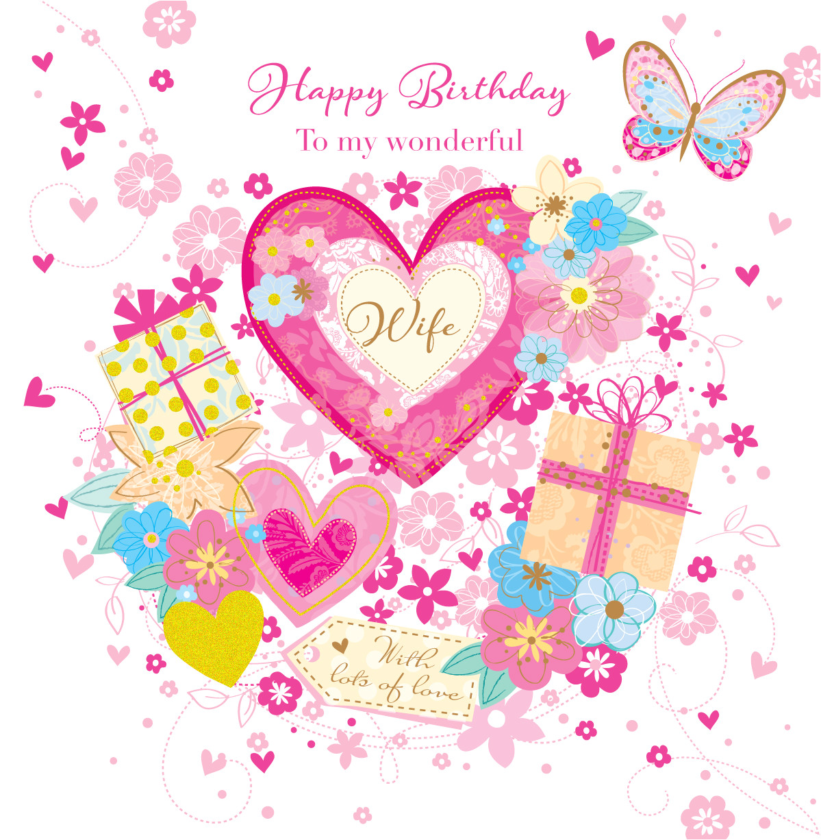 kctpsdse wonderful wife happy birthday greeting card by talking pictures cards