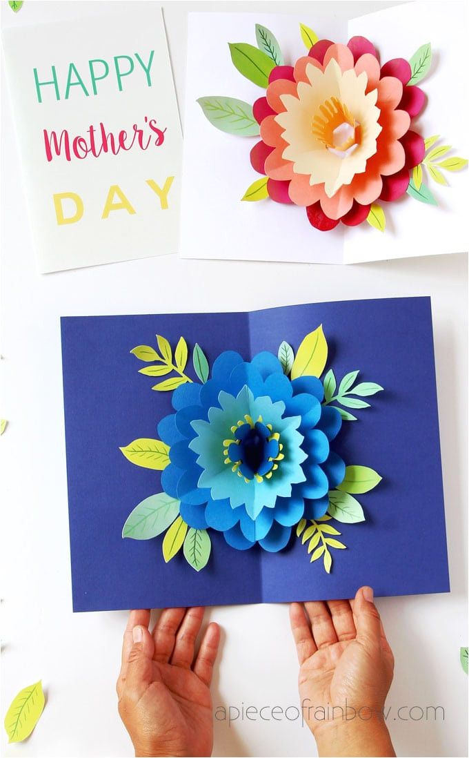 happy mothers day card pop up flower