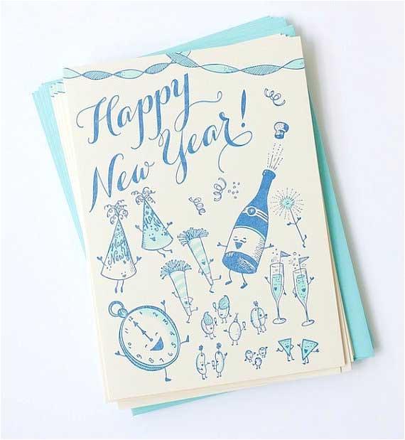 creative new year card designs inspiration