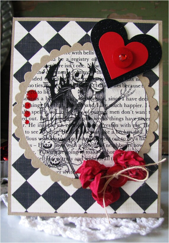 Jack and Sally Valentine Card Jack and Sally with Diamonds Valentine Card