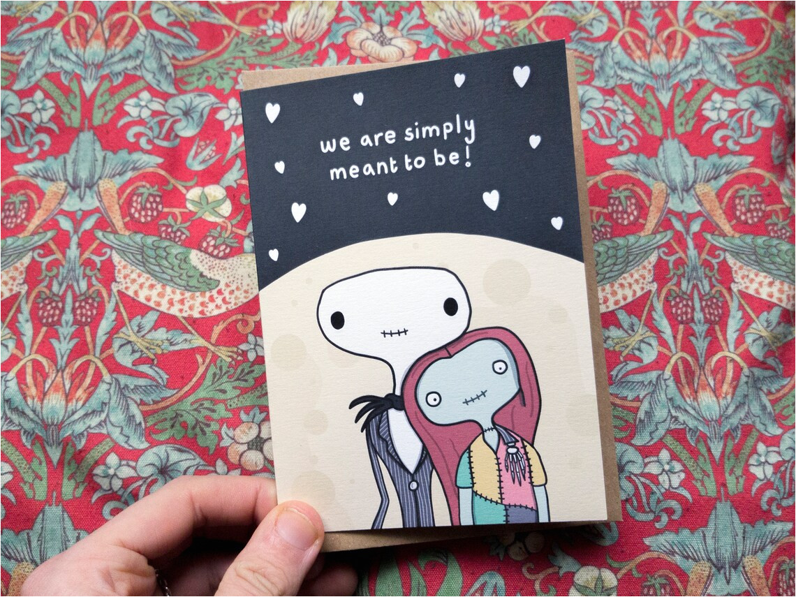 jack et sally valentines day card o le
