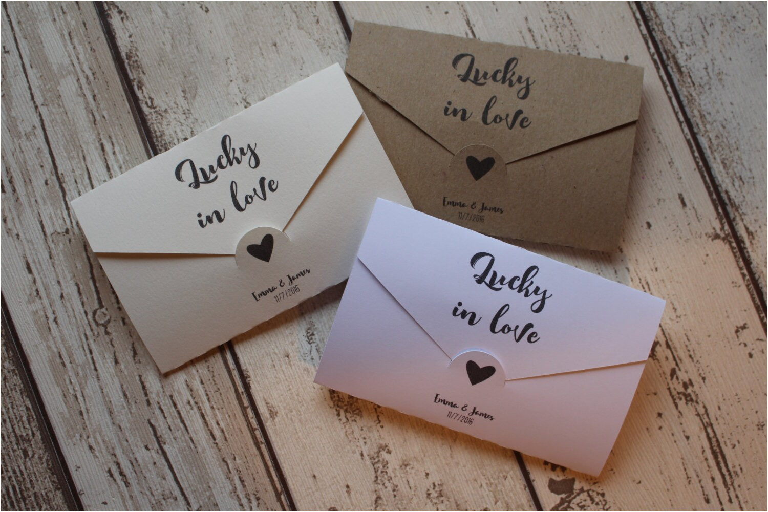 personalised wedding favour scratch card