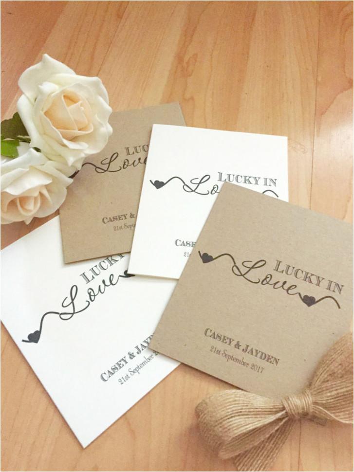 scratch card wedding favours