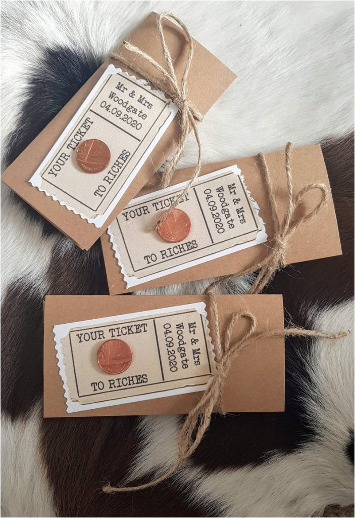scratchcard lottery wedding favours